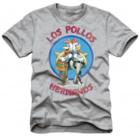 Breaking Bad: Los Pollos Hermanos Gray Shirt